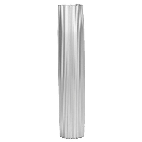 TACO Aluminum Ribbed Table Pedestal - 2-3-8- O-D- - 27-1-2- Length