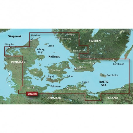 Garmin BlueChart g3 Vision HD - VEU021R - Denmark East Sweden Southeast - microSD-SD