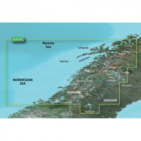 Garmin BlueChart g3 Vision HD - VEU053R - Trondheim - Troms - microSD-SD