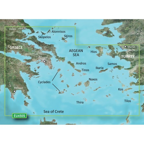 Garmin BlueChart g3 Vision HD - VEU450S - Athens Cyclades - microSD-SD