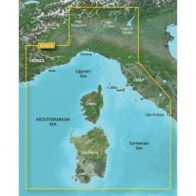 Garmin BlueChart g3 Vision HD - VEU451S - Legurian Sea- Corsica Sardinia - microSD-SD