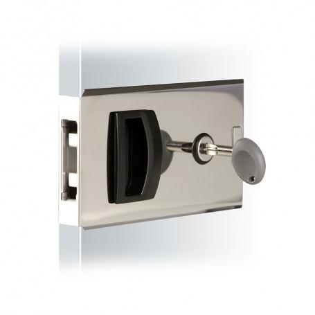 Southco Flush Sliding Door Latch - Square - Aluminum