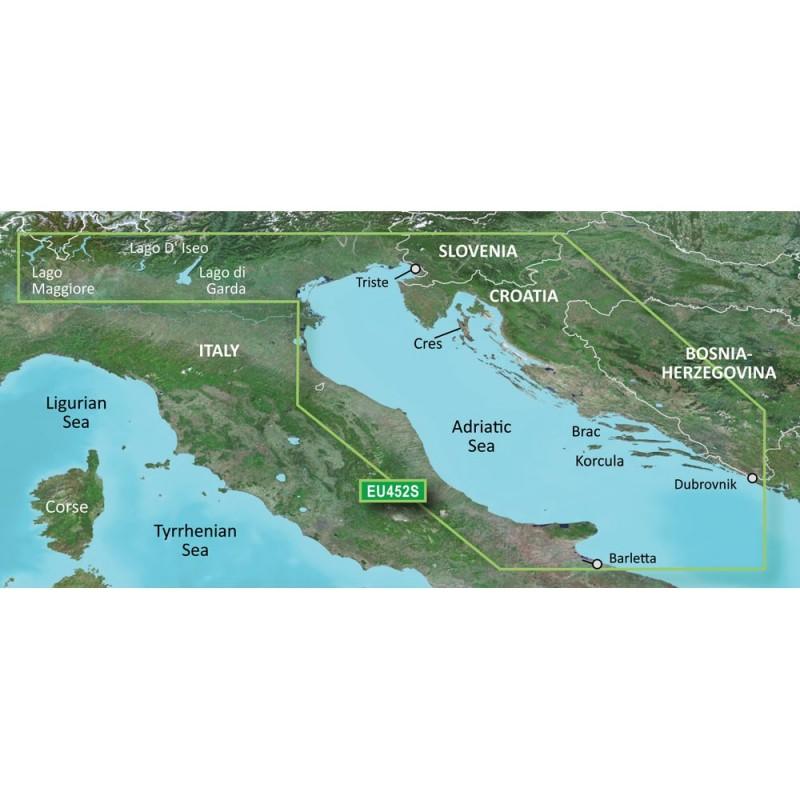 Garmin BlueChart g3 Vision HD - VEU452S - Adriatic Sea- North Coast - microSD-SD