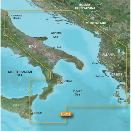 Garmin BlueChart g3 Vision HD - VEU453S - Adriatic Sea- South Coast - microSD-SD