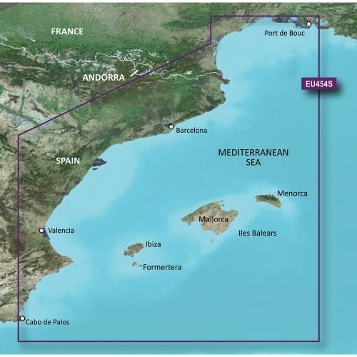 Garmin BlueChart g3 Vision HD - VEU454S - Barcelona Valencia - microSD-SD