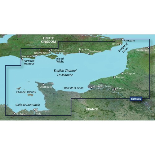 Garmin BlueChart g3 Vision HD - VEU465S - The Solent Channel Islands - microSD-SD