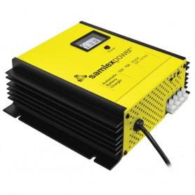 Samlex 15A Battery Charger - 12V - 3-Bank - 3-Stage w-Dip Switch Lugs