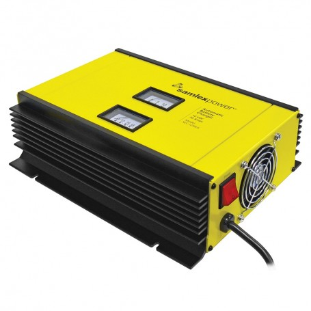 Samlex 50A Battery Charger - 12V - 2-Bank - 3-Stage w-Dip Switch Lugs - Includes Temp Sensor