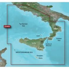Garmin BlueChart g3 Vision HD - VEU460S - Sicily to Lido di Ostia - microSD-SD