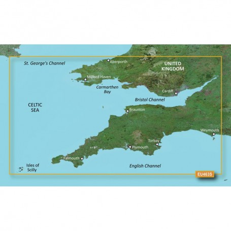 Garmin BlueChart g3 Vision HD - VEU463S - Bristol Channel England SW - microSD-SD