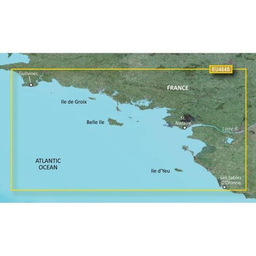 Garmin BlueChart g3 Vision HD - VEU464S - Penmarch to Les Sables dOlonne - microSD-SD