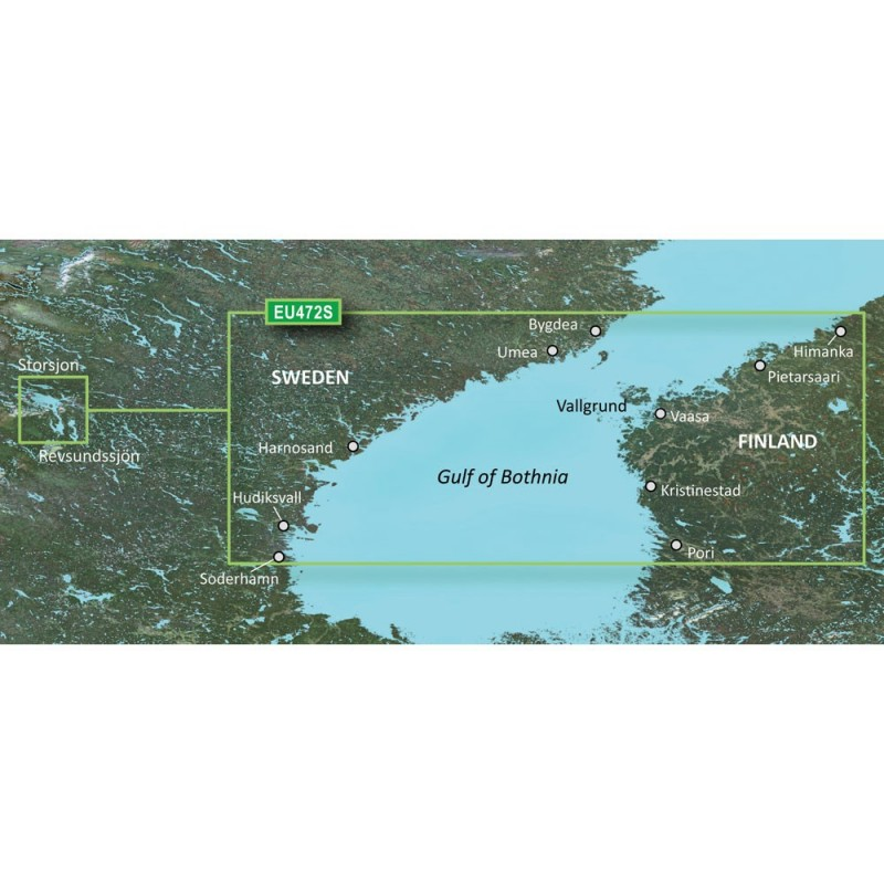 Garmin BlueChart g3 Vision HD - VEU472S - Gulf of Bothnia- Center - microSD-SD