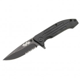 Kuuma 4-5- Serrated Edge Spring Assisted Folding Knife - Stainless Steel