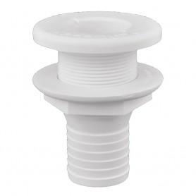 Attwood Plastic Thru-Hull Fitting - 1-1-2- - White
