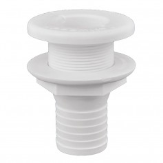 Attwood Plastic Thru-Hull Fitting - 1-1-2- - White