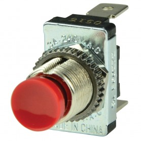 BEP Red SPST Momentary Contact Switch - OFF--ON-