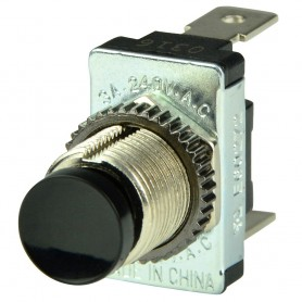 BEP Black SPST Momentary Contact Switch - OFF--ON-