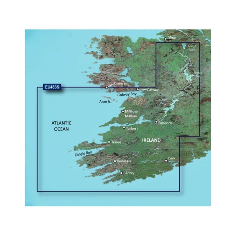 Garmin BlueChart g3 Vision HD - VEU483S - Galway Bay to Cork - microSD-SD