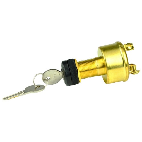 BEP 3-Position Brass Ignition Switch - OFF-Ignition-Start