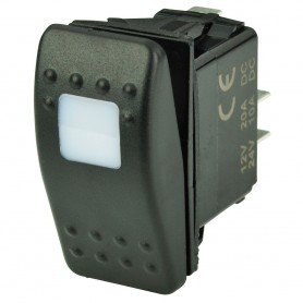 BEP SPST Contura Switch - 1-Amber LED - OFF-ON
