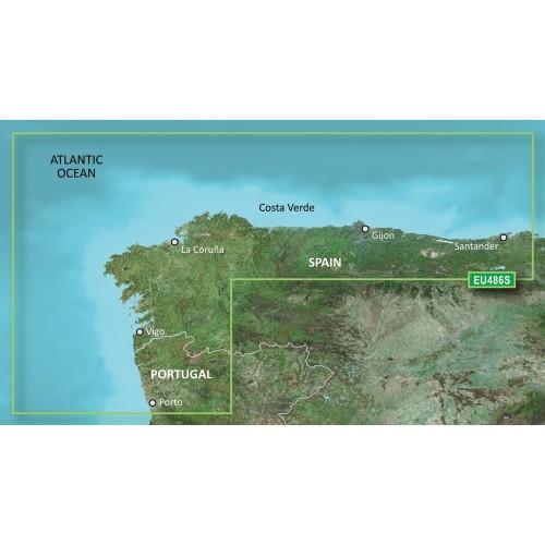 Garmin BlueChart g3 Vision HD - VEU486S - Galicia Asturias - microSD-SD