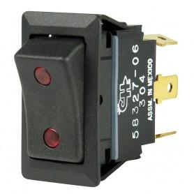 BEP SPDT Rocker Switch - 2-LEDs - 12V-24V - ON-OFF-ON
