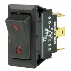 BEP SPDT Rocker Switch - 2-LEDs - 12V-24V - ON-OFF-ON