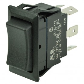 BEP DPDT Rocker Switch - 12V-24V - -ON--OFF--ON-