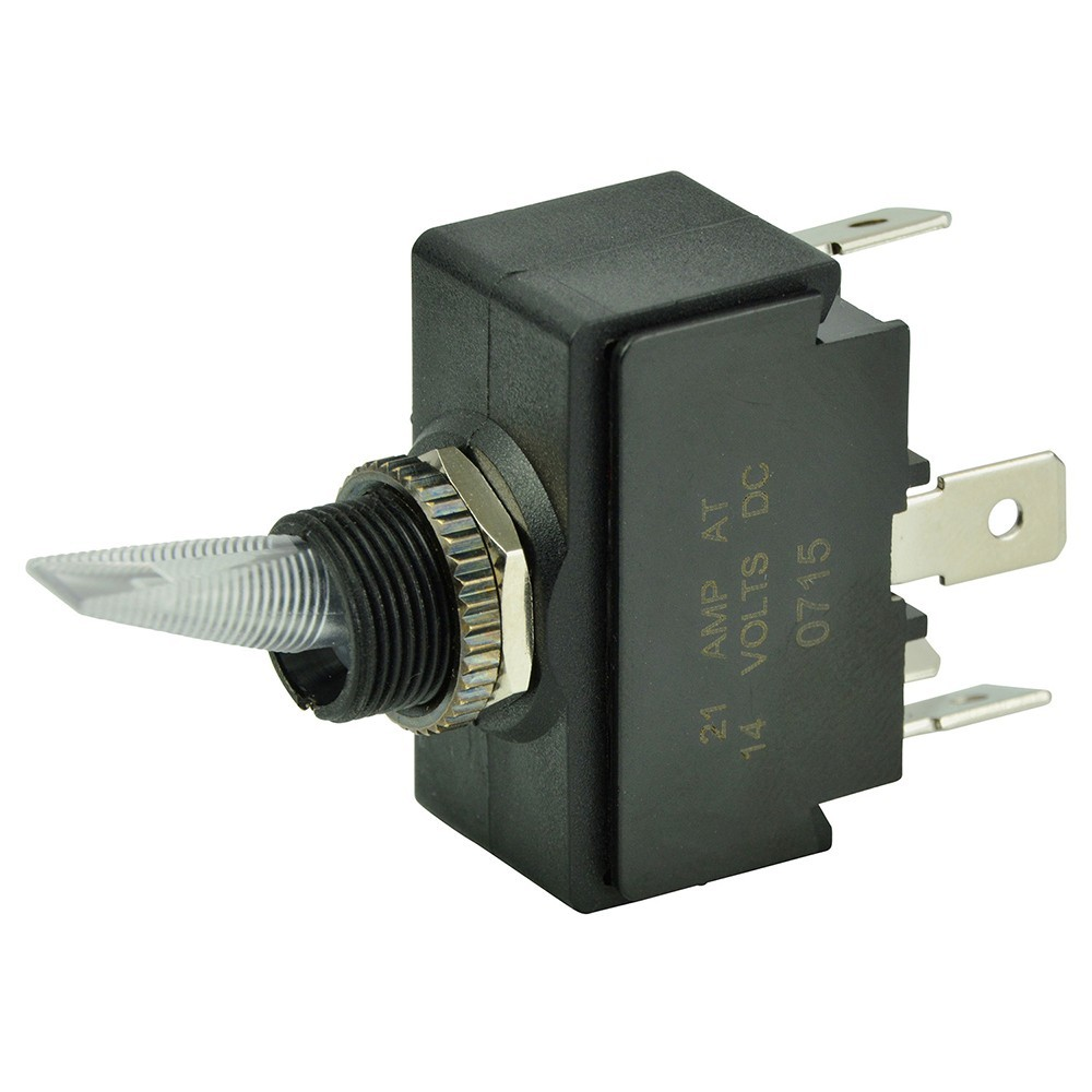 Marine Rocker ON OFF SPST Switch with  Contura II Switch Cover Courtesy Light