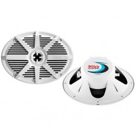 Boss Audio MR692W 6- x 9- 2-Way 350W Marine Full Range Speaker - White - Pair