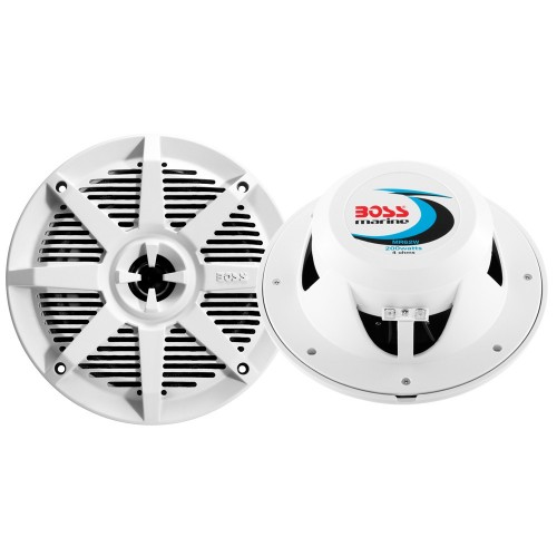 Boss Audio MR52W 5-25- 2-Way 150W Marine Speaker - White - Pair