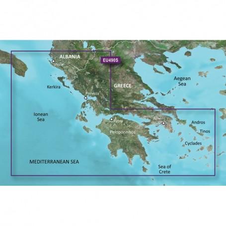 Garmin BlueChart g3 Vision HD - VEU490S - Greece West Coast Athens - microSD-SD