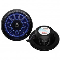 Boss Audio MRGB65B 6-5- 2-Way 200W Marine Full Range Speaker w-RGB LED Lights - Black - Pair