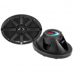 Boss Audio MR692B 6- x 9- 2-Way 350W Marine Full Range Speaker - Black - Pair
