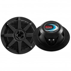 Boss Audio MR62B 6-5- 2-Way 200W Marine Full Range Speaker - Black - Pair