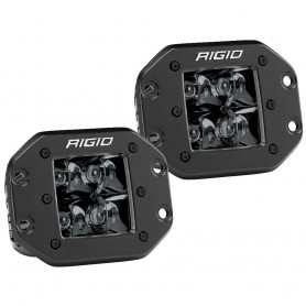 RIGID Industries D-Series PRO Flush Mount - Spot LED - Midnight Edition - Pair - Black