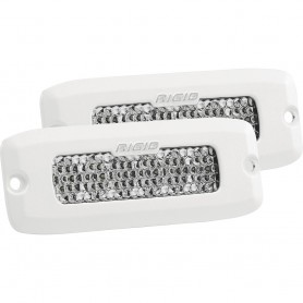 RIGID Industries SR-Q Series PRO Hybrid-Diffused LED - Flush Mount - Pair - White