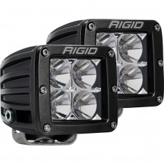 RIGID Industries D-Series PRO Hybrid-Flood LED - Pair - Black