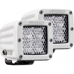 RIGID Industries D-Series PRO Hybrid-Diffused LED - Pair - White