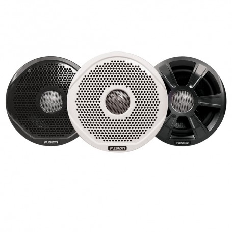 FUSION FR7022 7- Round 2-Way IPX65 Marine Speakers - 260W - Pair w-3 Speaker Grilles Provided - -Case of 6-