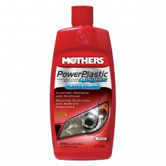 Mothers PowerPlastic 4Lights Plastic Polish -8oz - -Case of 6-