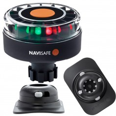 Navisafe Navilight Tricolor 2NM w-Navibolt Base RIB Mount - Black