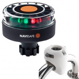 Navisafe Navilight Tricolor 2NM w-Navibolt Base Rail Mount - White