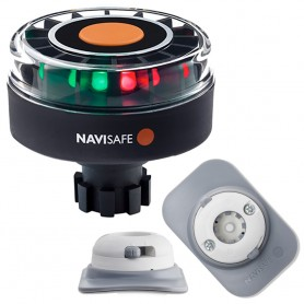 Navisafe Navilight Tricolor 2NM w-Navibolt Base RIB Mount - White