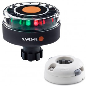 Navisafe Navilight Tricolor 2NM w-Navibolt Base Horizontal Mount - White
