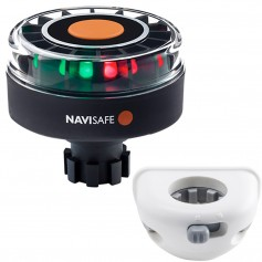 Navisafe Navilight Tricolor 2NM w-Navibolt Base Vertical Mount - White