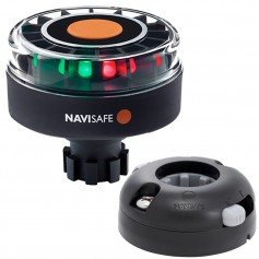 Navisafe Navilight Tricolor 2NM w-Navibolt Base Horizontal Mount - Black
