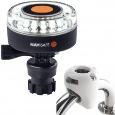 Navisafe Navilight 360 2NM White w-Navimount Base Rail Mount - White