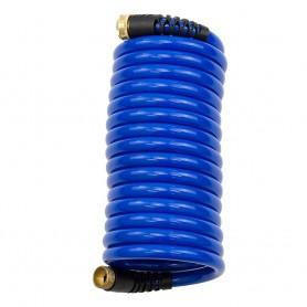 HoseCoil 15 Blue Self Coiling Hose w-Flex Relief - -Case of 6-