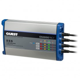 Guest On-Board Battery Charger 15A - 12V - 3 Bank - 120V Input